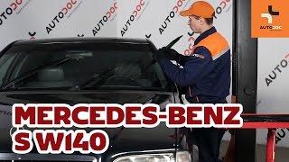 Changer essuie-glaces avant Mercedes-Benz S W140 TUTORIEL | AUTODOC