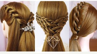 3 ideas hairstyles from twist braid | Easy and beautiful hairstyles for girls | Coiffures Simples