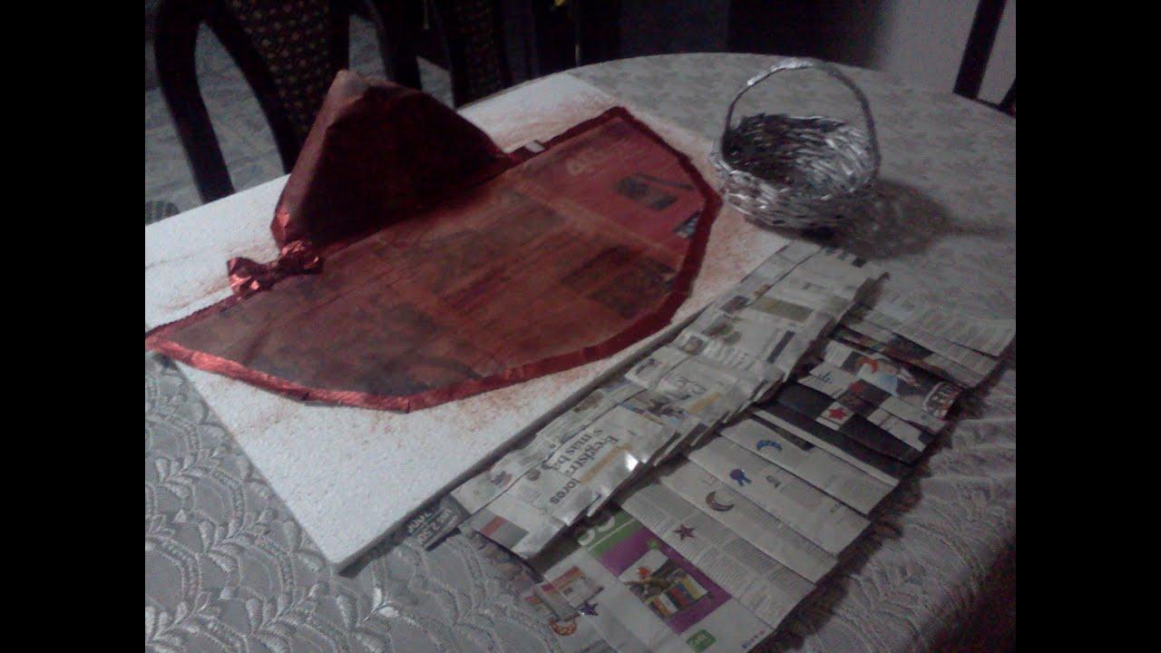 Fotos disfraz de caperucita roja de papel peri dico youtube for Como hacer una pileta de material paso a paso