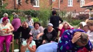 Ice bucket challenge at Millbank Care Home in Newark