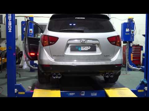 ::: MJ WORKS ::: Hyundai Veracruz Custom Exhaust System