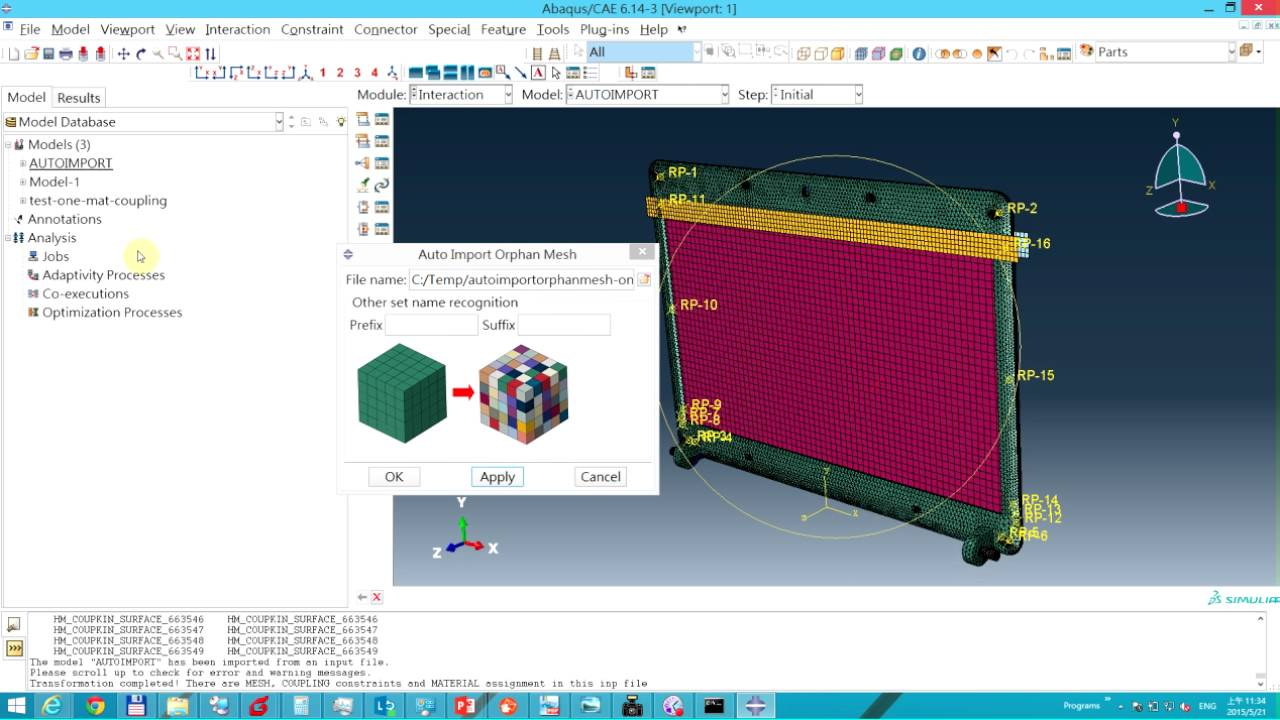 abaqus how to delete mesh