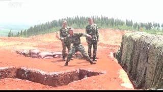 """Al soldado se le escapa una granada de mano y la lia """"parda"""""""
