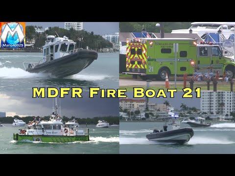 [Miami Dade Fire-Rescue] Haulover - Rough Seas: Police Boats, Fire Boat 21, Rescue 21