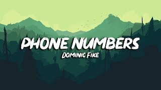 Dominic Fike - Phone Numbers (Lyrics)