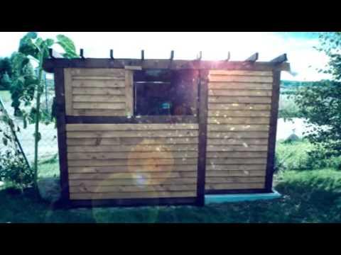 Modne ubrania Zadaszenie drewniane na 2-3 śmietniki - YouTube ZS54
