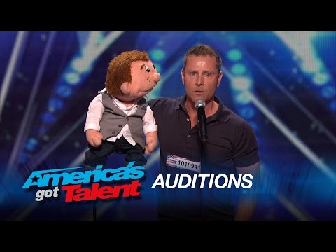 Paul Zerdin: Funny Ventriloquist and Puppet Share the Language of Love - America's Got Talent 2015