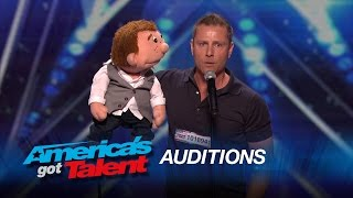 Paul Zerdin: Funny Ventriloquist and Puppet Share the Language of Love - America
