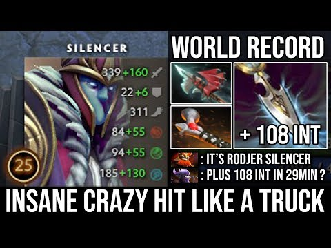NEW RECORD!!! 108 Intelligence Steal In 29min - Carry Mid Silencer Hit Like A Truck By Rodjer DotA 2