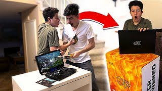Download I Destroyed a Kids FORTNITE Gaming Setup & SURPRISED Him w/ a NEW One!! Mp3 and Videos