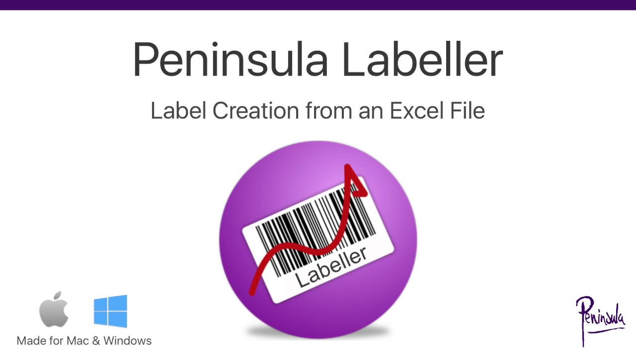 printing labels from excel