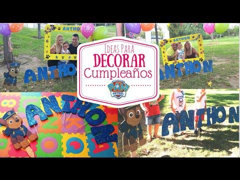 Decorar Cumpleaños PATRULLA CANINA/ Poster de CHASE/ PAW PATROL BIRTHDAY