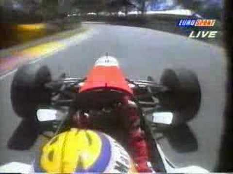 Mark Blundell onboard during the 1995 Australian GP