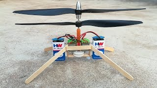 single Axle Dual Propeller Helicopter ( Homemade Helicopter )