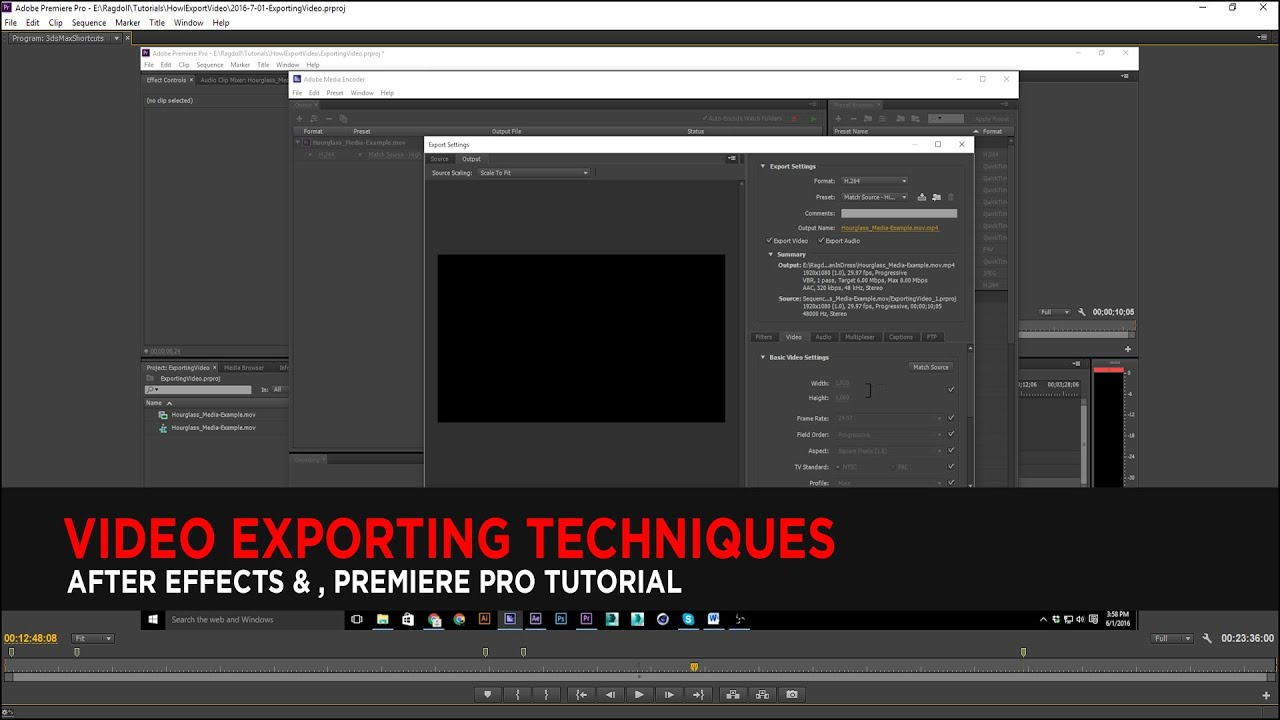 Tutorial : Video Exporting Techniques