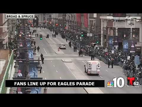 LIVE: Broad Street Filling Up for Eagles Parade
