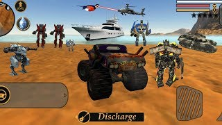 vegas Crime Simulator (Transformer Fight Car Robot on Army Base) Monster Truck on Army Base - HD
