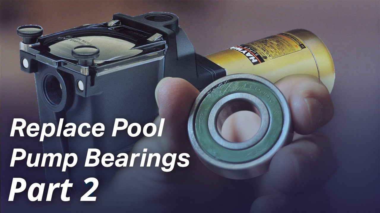 How to replace the bearings in a pool pump motor part 2 for Changing pool pump motor