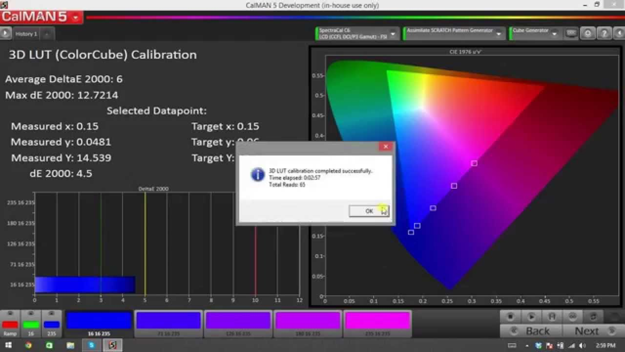 How to Create a 3D LUT for ASSIMILATE SCRATCH in CalMAN 5 4