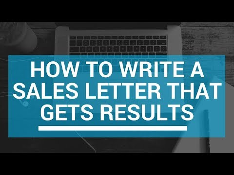 How To Write a Sales Letter That  Gets results