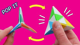 Easy Origami Pop It Fidgets. Antistress. Funny Moving PAPER TOYS