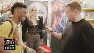 James Corden & 'Dark Phoenix' Cast Invade Comic Book Store