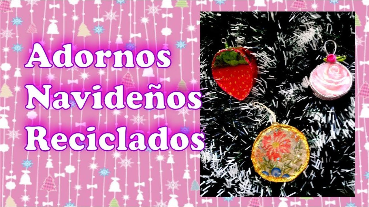 3 ideas originales de adornos navide os reciclados youtube