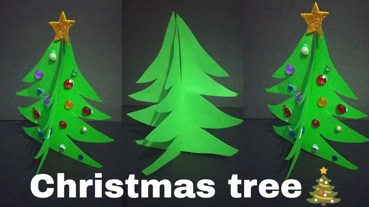 3d Paper Christmas Tree Diy Christmas Tree Origami Christmas