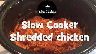 This is our slow cooker shredded chicken recipe ⏬⏬ see below for simple and delicious a perfect dish fo...