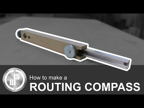 HOW TO MAKE A ROUTING COMPASS   MAKING A 2 IN 1 JIG