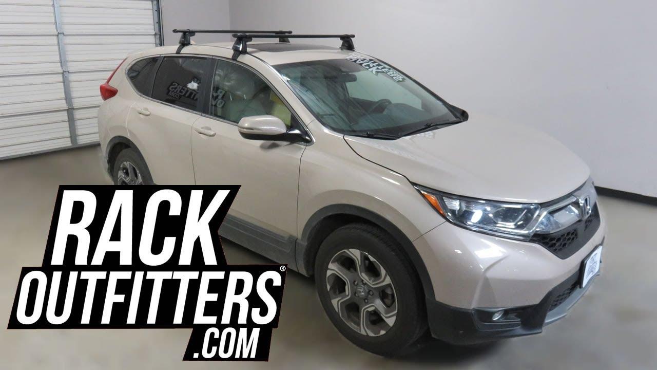 Honda Crv With Yakima Baseline Corebar Roof Rack Crossbars Youtube