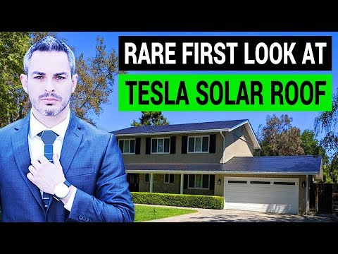 Tesla Solar Roof: A Rare First Look