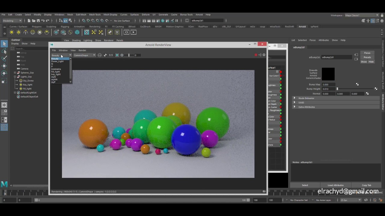arnold 5 Maya lightPath Expression and ColorVertex