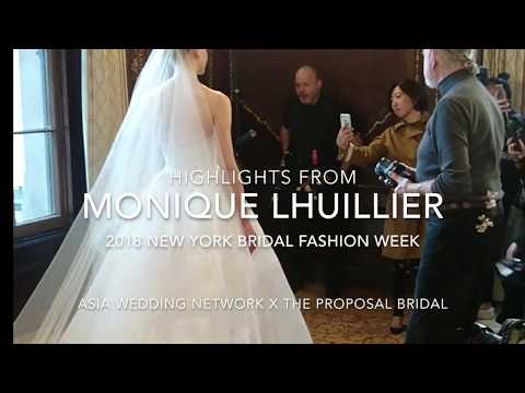 Highlights from Monique Lhuillier 2018 Bridal Fashion Week