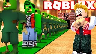 WE CREATED A ZOMBIE FACTORY IN ROBLOX!