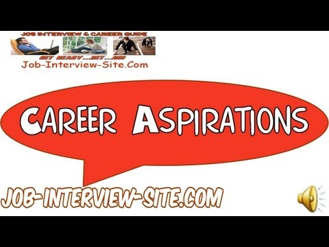 Professional aspirations