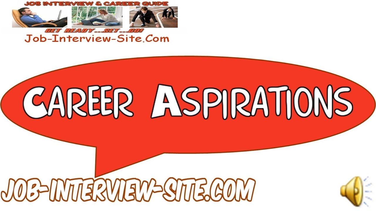 your career aspirations