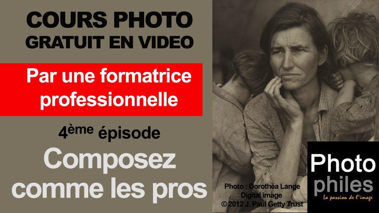 N°4 Cours sur la PHOTOGRAPHIE, composez vos images comme les photographes et peintres célèbres !