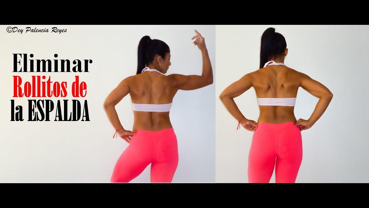 ejercicio para adelgazar los rollitos dela espalda
