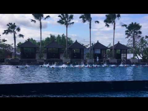 LuDochka, swimming lesson, Jimbaran Club, Bali. तैराकी सबक, Jimbaran क्लब, बाली.