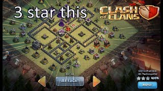 Clash of Clans TH9 Common Anti-3 base [3 star strat]