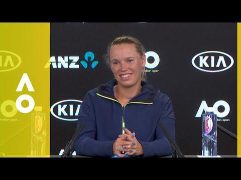 Caroline Wozniacki press conference (SF)   Australian Open 2018