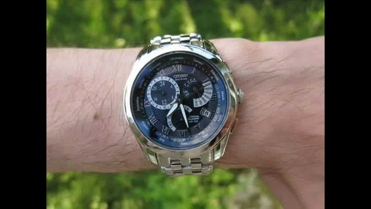 Perpetual Calendar Watch >> Citizen Eco-Drive Calibre 8700 - YouTube