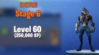 Fortnite Skin Upgrades - Calamity, Dire (By LEVELS)