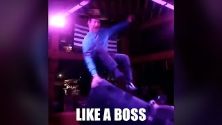 Riding a mechanical bull like a boss