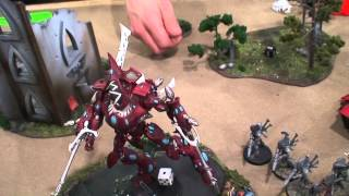 Warhammer 40k Batrep, TBMC, 1500pts Space Wolves vs Eldar, Battle Report