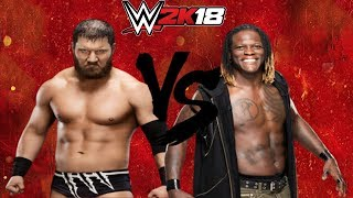 WWE 2K18 Curtis Axel vs R Truth