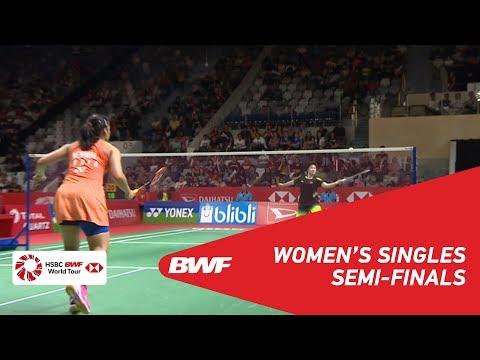 SF | WS | HE Bingjiao (CHN) [6] vs Saina NEHWAL (IND) [8] | BWF 2019