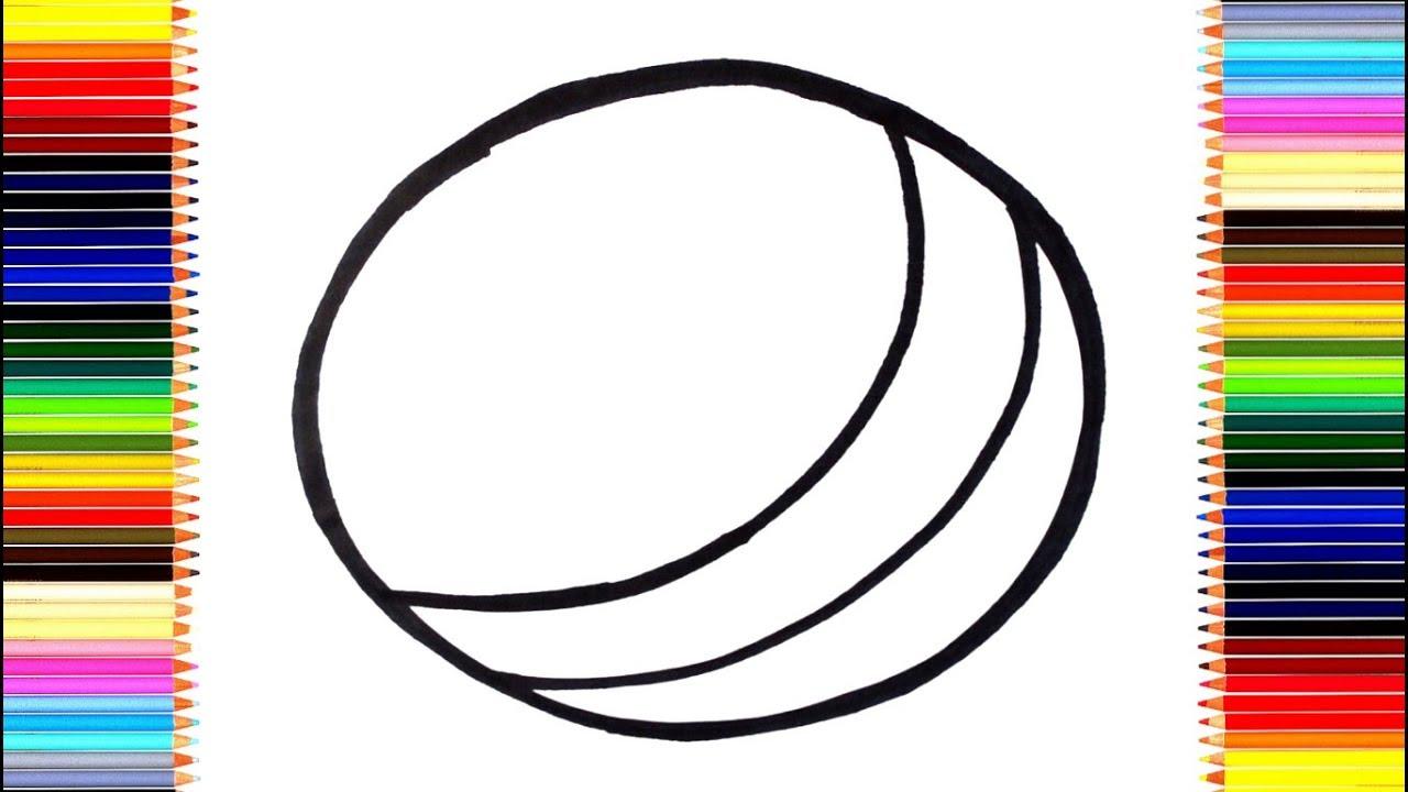 Как нарисовать мяч / мультик раскраска мячик для детей ...