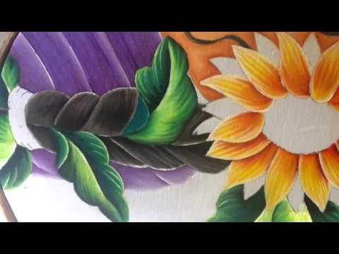 Pintura en tela rostro girasoles 5 con cony youtube - Pintura en tela dibujos ...